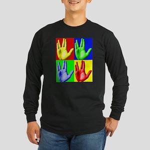 Vulcan Hand Long Sleeve Dark T-Shirt