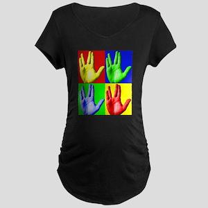 Vulcan Hand Maternity Dark T-Shirt