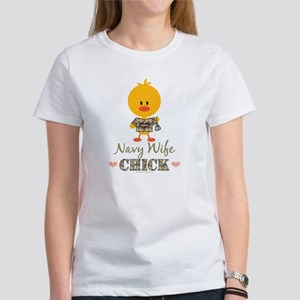 Proud Navy Wife Chick Women's T-Shirt