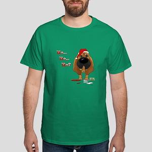 Bloodhound Santa's Cookies Dark T-Shirt