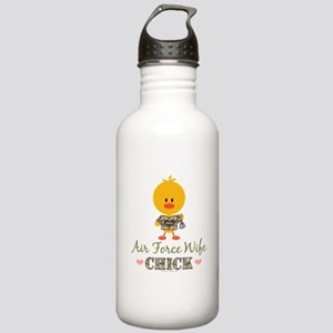 Proud Air Force Wife Chick Stainless Water Bottle