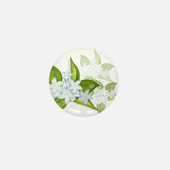 jasmine Flowers artwork Mini Button