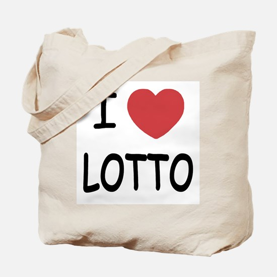 I heart lotto Tote Bag