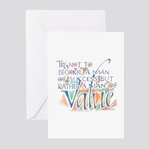 Man of Value Greeting Cards (Pk of 10)