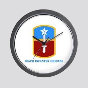 SSI - 205th Infantry Brigade with text Wall Clock