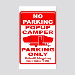 No Parking Rectangle Sticker
