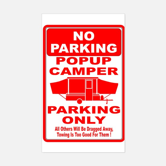 No Parking Rectangle Decal