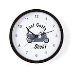 Just Gotta Scoot Burgman Wall Clock