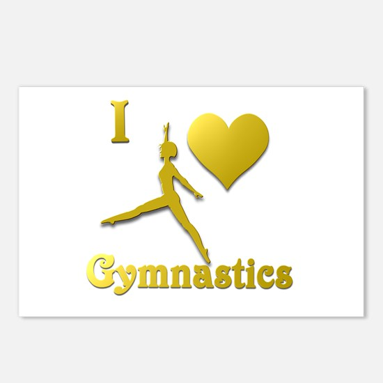 I Love Gymnastics #5 Postcards (Package of 8)