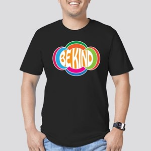 Be Kind Men's Fitted T-Shirt (dark)