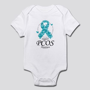 PCOS Ribbon of Butterflies Infant Bodysuit