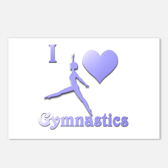 I Love Gymnastics #7 Postcards (Package of 8)