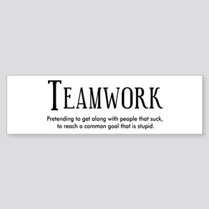 Teamwork: People Suck Sticker (Bumper)