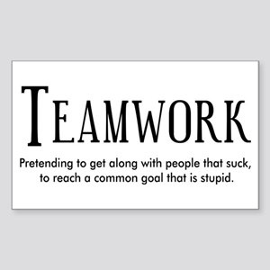Teamwork: People Suck Sticker (Rectangle)