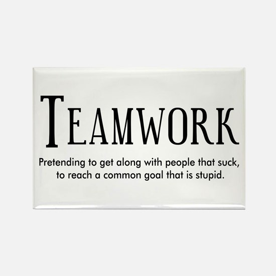 Teamwork: People Suck Rectangle Magnet (100 pack)