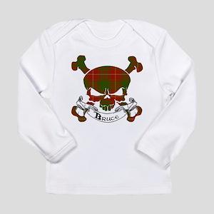 Bruce Tartan Skull Long Sleeve Infant T-Shirt