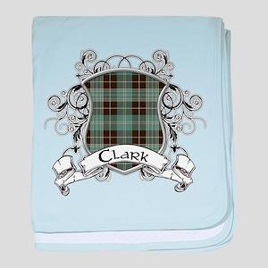 Clark Tartan Shield baby blanket