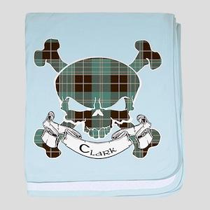 Clark Tartan Skull baby blanket