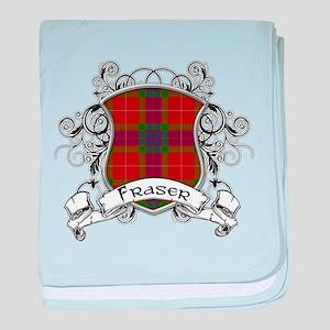 Fraser Tartan Shield baby blanket