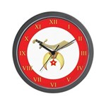 Shriners Roman Wall Clock