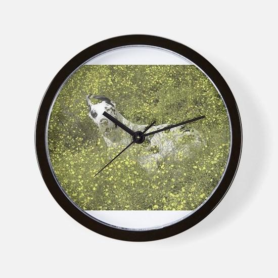 Harlequin Great Dane Meadow Roll Wall Clock