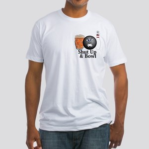 Shut Up And Bowl Logo 10 Fitted T-Shirt Design Fro