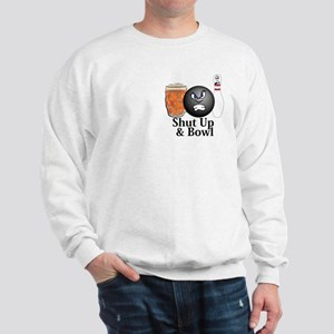 Shut Up And Bowl Logo 10 Sweatshirt Design Front P