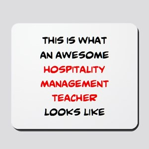 awesome hospitality management Mousepad