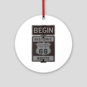 Route 66 Ornament (Round)