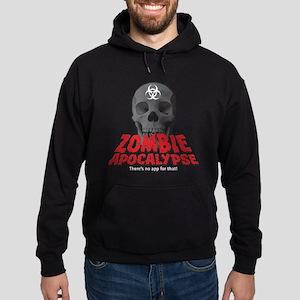 Zombie Apocalypse -- No App Hoodie (dark)