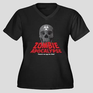 Zombie Apocalypse -- No App Women's Plus Size V-Ne