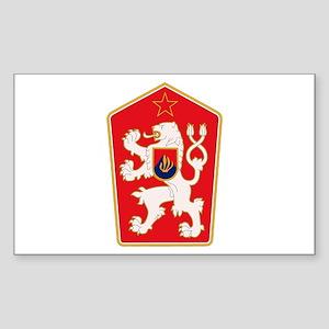 Czechoslovakia Coat of Arms Rectangle Sticker