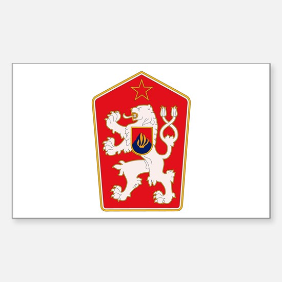 Czechoslovakia Coat of Arms Rectangle Decal