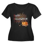 Happy Halloween Women's Plus Size Scoop Neck Dark