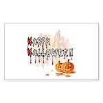 Happy Halloween Sticker (Rectangle 10 pk)