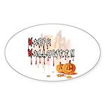 Happy Halloween Sticker (Oval 10 pk)