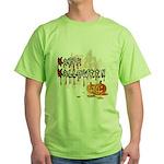 Happy Halloween Green T-Shirt
