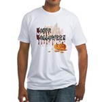 Happy Halloween Fitted T-Shirt