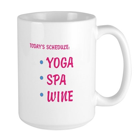 Today's Schedule Large Mug