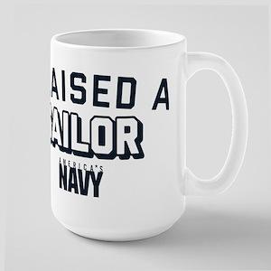U.S. Navy I Raised A Sail 15 oz Ceramic Large Mug
