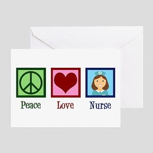 Peace Love Nurse Greeting Card