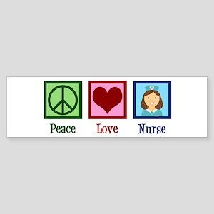 Peace Love Nurse Sticker (Bumper)