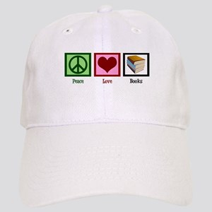 Peace Love Books Cap