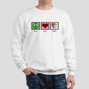 Peace Love Books Sweatshirt