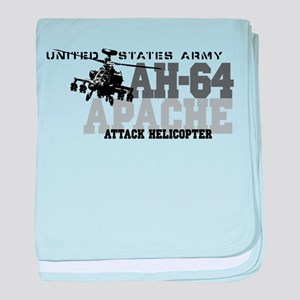 Army Apache Helicopter baby blanket