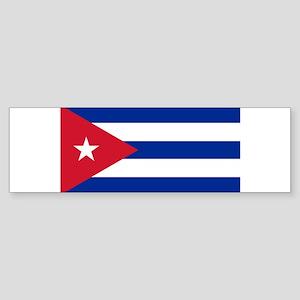 Cuban Flag - Bandera Cubana - Flag Bumper Sticker