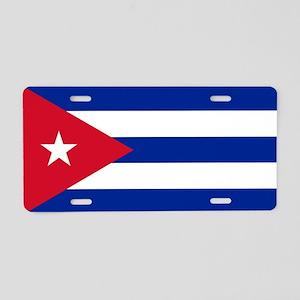 Cuban Flag - Bandera Cubana Aluminum License Plate