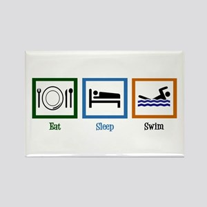 Eat Sleep Swim Rectangle Magnet