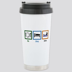 Eat Sleep Swim Stainless Steel Travel Mug