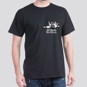 All Balls No Glory Logo 2 Dark T-Shirt Design Fron